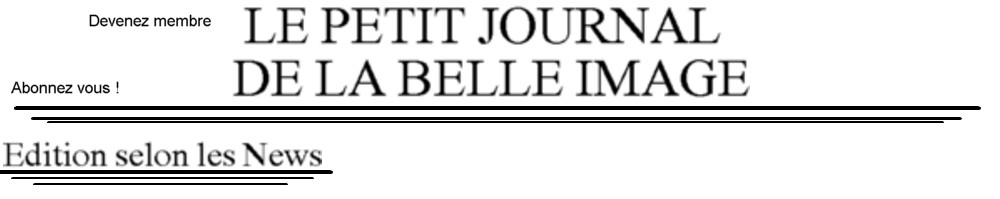 Le Petit Journal De La Belle Image