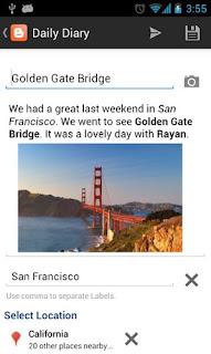 Tips ngeblog dengan Aplikasi Blogger Untuk Android