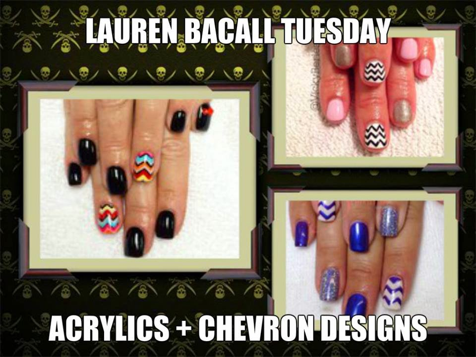 Acrylics chevron designs