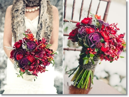 vinterbröllop, bröllop rött och lila, bröllop päls, winter wedding, winter wonderland wedding, wedding fur, wedding red purple