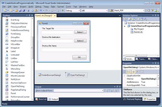 Create a shortcut with Visual Basic