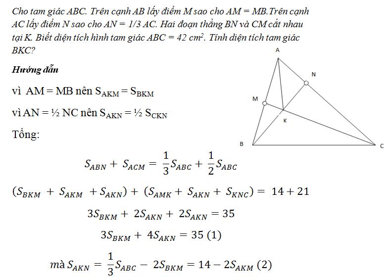 Diện tích Tam giác - Đề: Cun Con