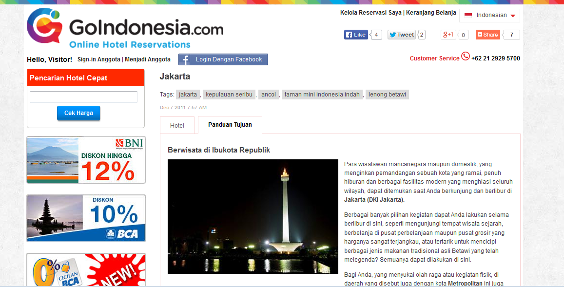 Cari & Temukan Hotel Murah di Jakarta
