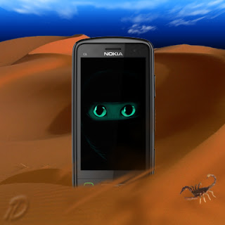 Fond ecran chat du desert 360 640 nokia C7 C6 N8 E7