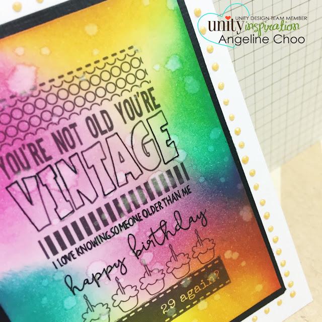 ScrappyScrappy: Vintage birthday card #scrappyscrappy #unitystampco #stamp #card #handmade #birthday