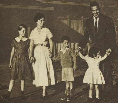 Shirley Temple-Black and family, 1958
