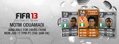 FUT 13 Orange MOTM Nnamdi Oduamadi (74) - FIFA 13 Ultimate Team