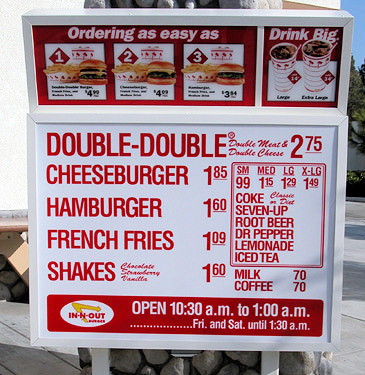 In N Out Secret Menu: Large and Extra Large Milkshakes | In N Out ...
