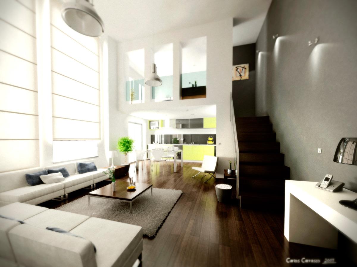Arquitectura e infografia 3d renders carlos leon arquitectura 3d interior living room - Arquitectura interior ...
