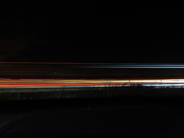 light trace of cars