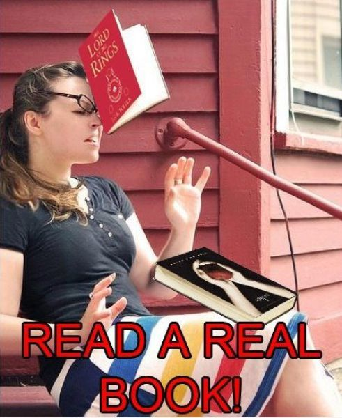 How To Make Someone Read A Real Book!