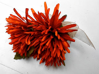 Autumn Orange Chrysanthemum Mum Wedding Corsage by WeddingFlowerShop