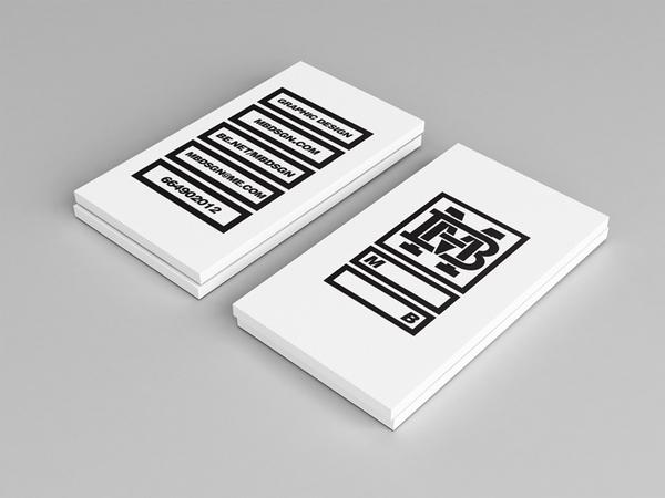 tarjeta de presentación minimalista