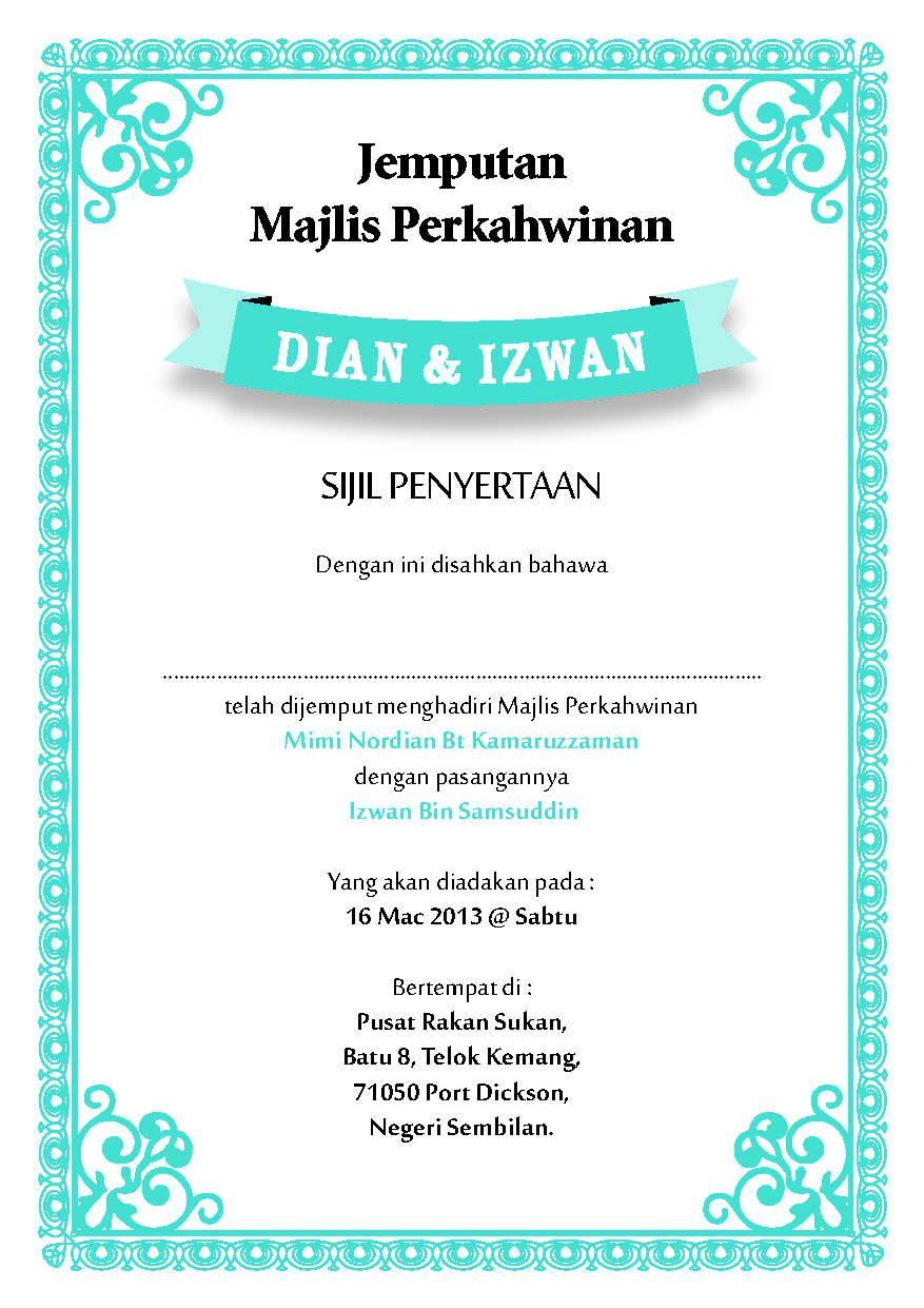 Download image Contoh Kad Jemputan Majlis Berkhatan Terkini 2013 PC ...