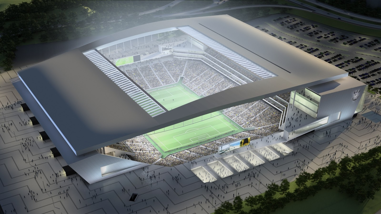 Estádio do Corinthians, em São Paulo