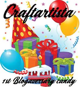 Craftartista 1st Blogaversary Candy
