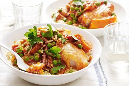 Try this quick and easy fish and pumpkin tagine Fish and pumpkin tagine recipe