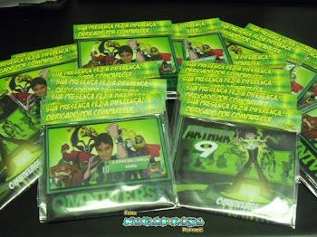 DVDs Personalizados com gravação de filme Ben 10