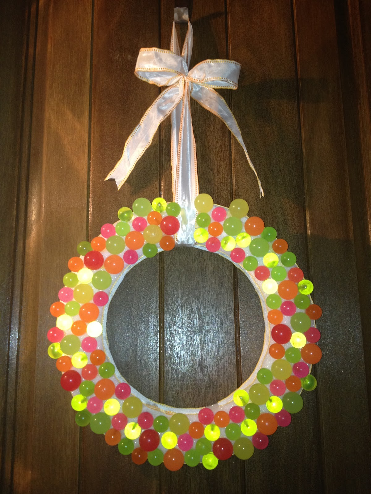 To create a fun summertime wreath using bright colors that would