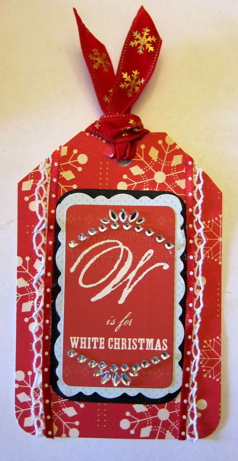 White Christmas tag