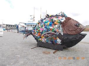 Awareness against sea pollution exhibit at Helsingor in Copenhagen.