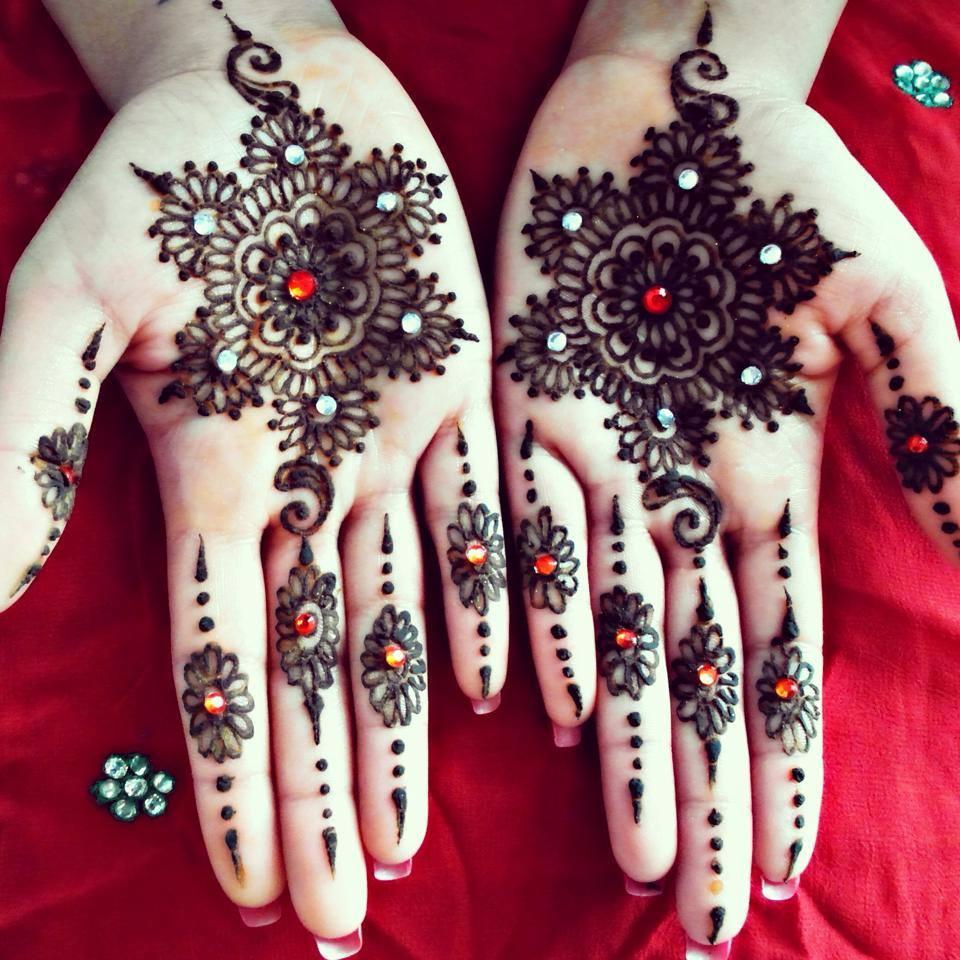Latest 2016 Mehndi Henna Designs Best Collection Urdu Mix