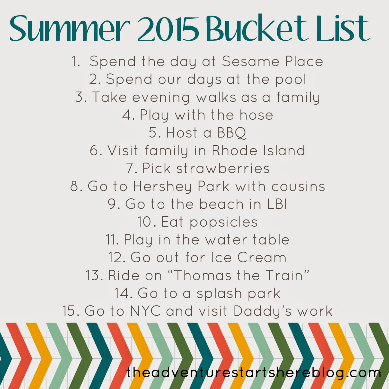 the adventure starts here: summer bucket list | it's the little things