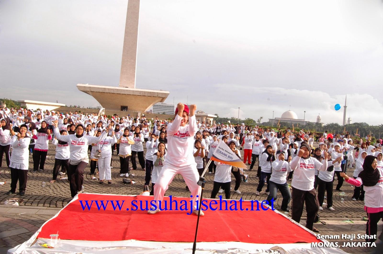 Senam Susu Haji Sehat  Monas Jakarta