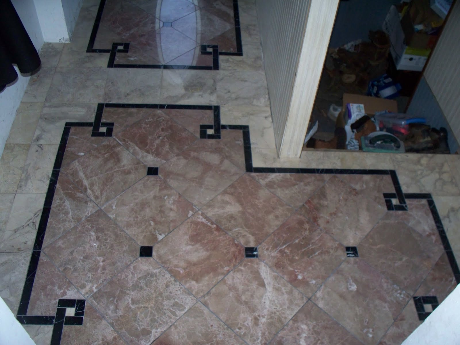 Foyer Tile Grout : Old victorian house marble floor tile entryway