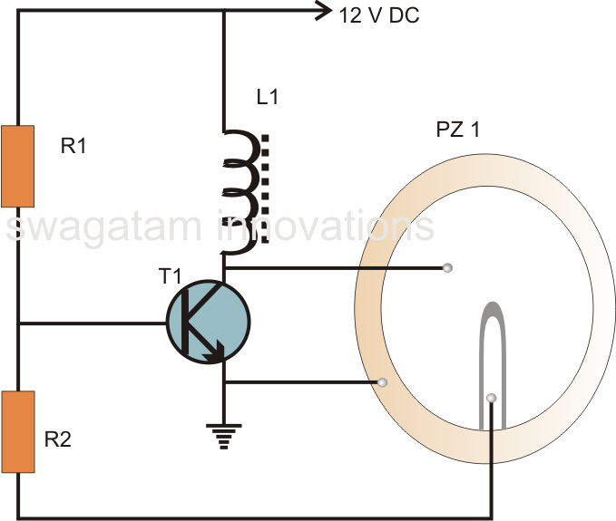 Simple Piezo Buzzer Circuit on inductor oscillator circuit