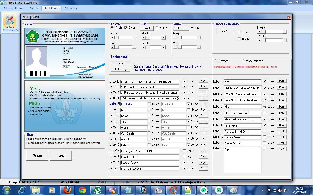 Desain Kartu Perpustakaan Sekolah Software Perpustakaan Sekolah Simple Perpus Ichasoft Software