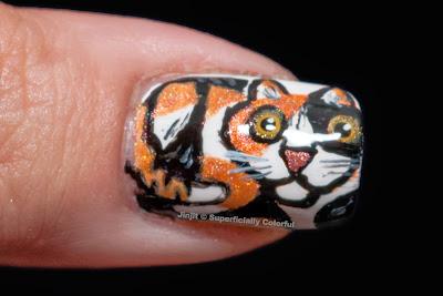 Xanthippe Cat Nail Art