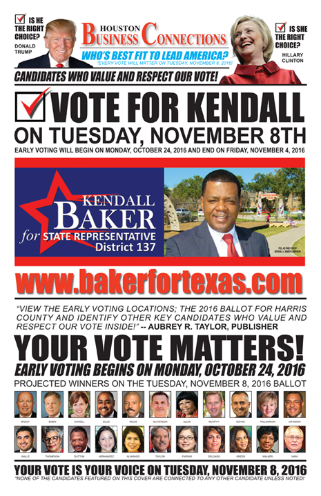 KENDALL BAKER VALUES OUR VOTE, SUPPORT AND COMMUNITY!