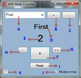 APK Multi counter for counting number items elements