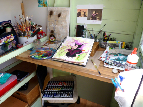Whoopidooings: Carmen Wing - My shed, my workspace, my haven.