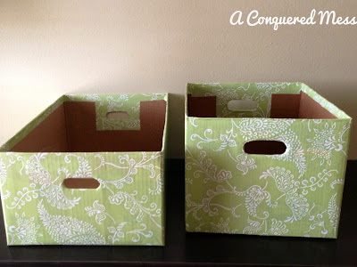 Easy Storage Bins Out Of Cardboard Boxes