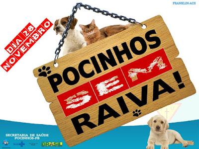"""Pocinhos realiza """"Dia D"""" da Campanha de Vacinação Contra a Raiva Animal"""