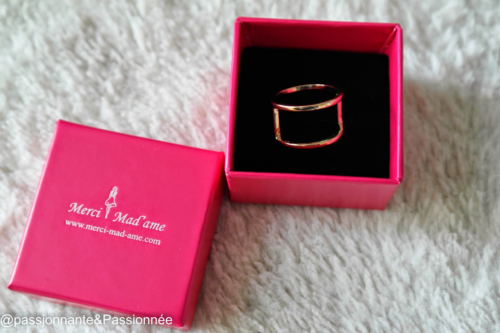 Bague 2 rangs Merci Mad'ame
