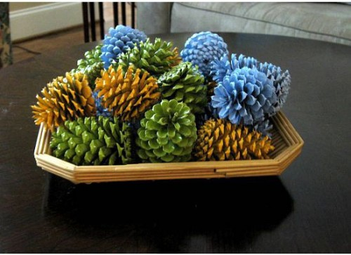 Inspired whims pine cone crafts for Crafts using pine cones