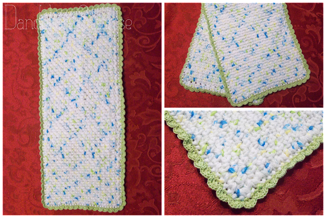 Crochet Burp Cloths for Baby Shower