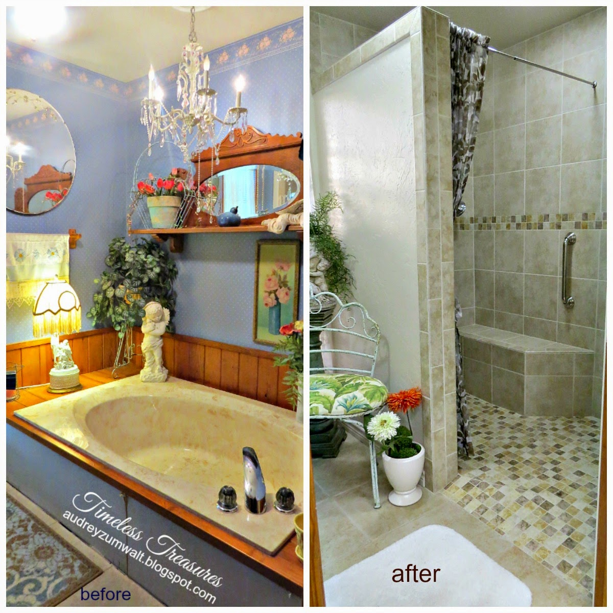 Timeless Treasures Master Bath Remodel Before And After Part 1