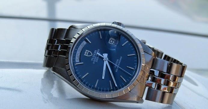 Jam Tangan Kuno TUDOR Date Day Automatic Ref94500 Blue Dial