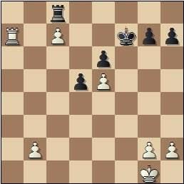 Partida Pomar-Ribeiro en el II Encuentro Ibérico de Ajedrez 1946, posición después de 33.Ta7!
