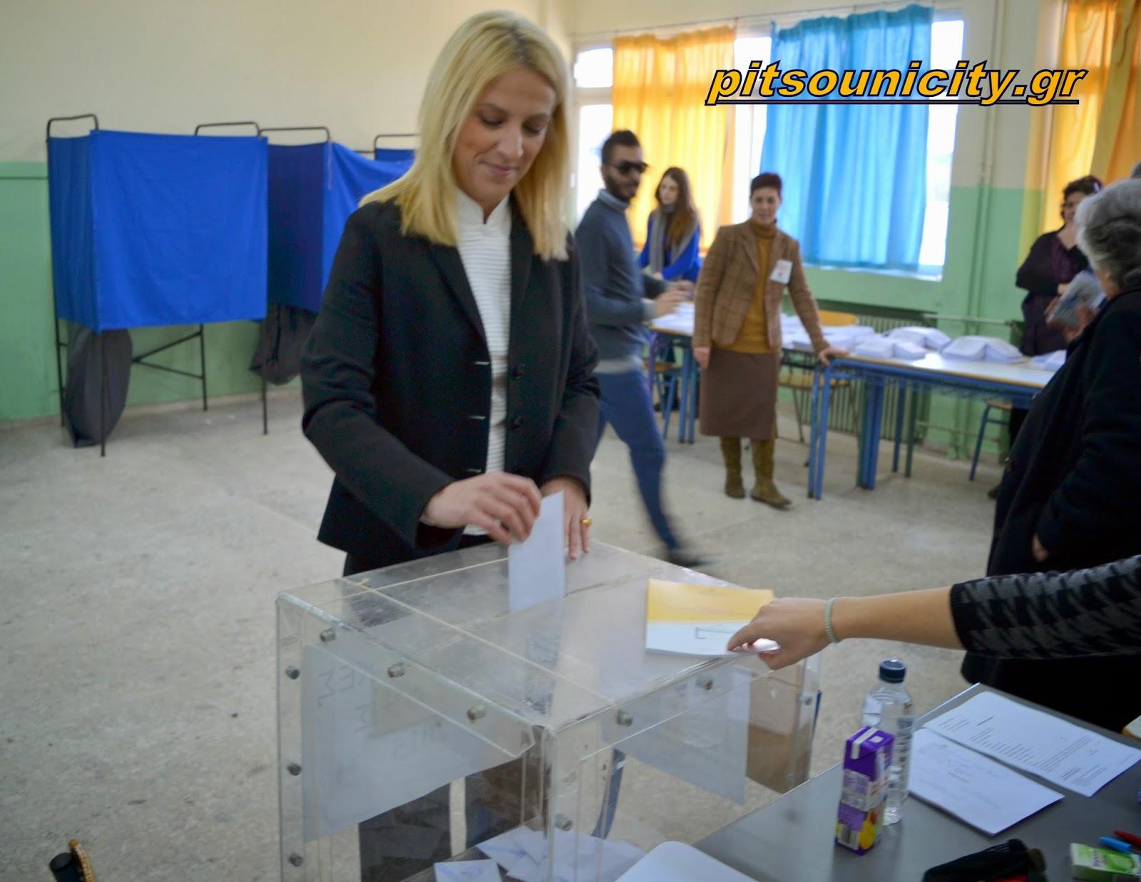 Δήλωση της Περιφερειάρχη Αττικής, Ρένας Δούρου, μετά από την άσκηση του εκλογικού της δικαιώματος (VIDEO + PHOTOS)