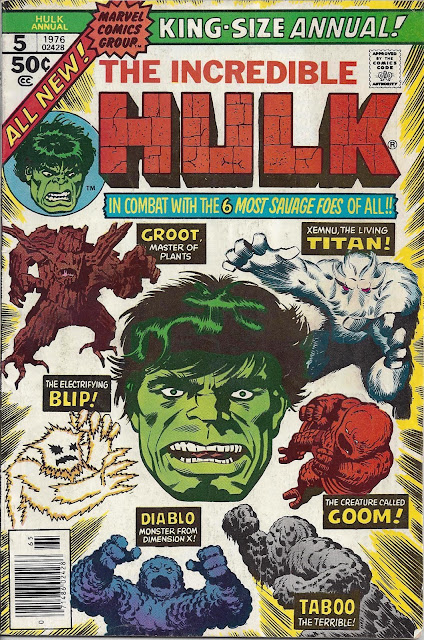 Bronze age babies october 2012 incredible hulk annual 5 1976 and six shall crush the hulk plotter len wein scripter chris claremont artists sal buscema and jack abel fandeluxe Choice Image