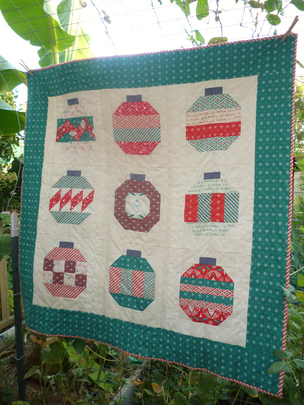 Fabric Mutt Scrappy Christmas Potholder