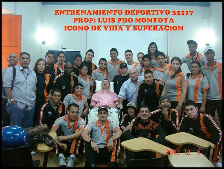 Con el profe Luis Fernando Montoya