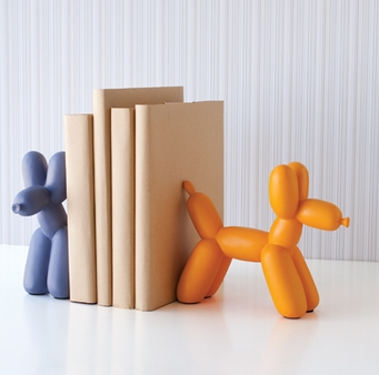 Nursery notations fabulous finds balloon dog book ends for Ikea bookends uk