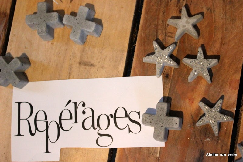 DIY Concrete stars and cross / Photo Atelier rue verte /