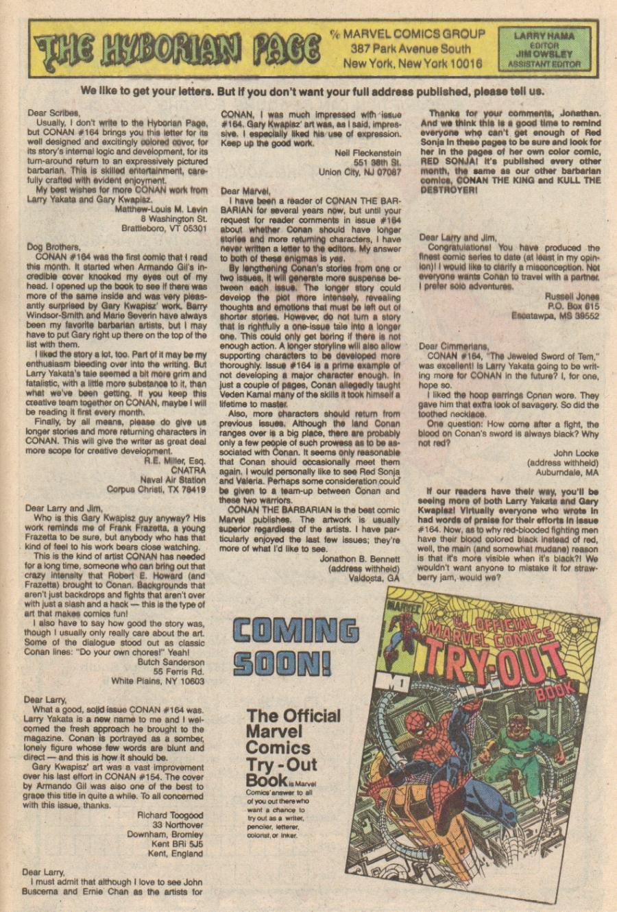 Conan the Barbarian (1970) Issue #168 #180 - English 24